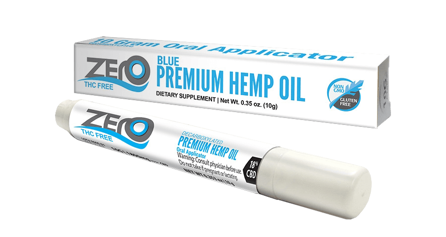 Oral Applicator for Zero Blue Hemp Oil