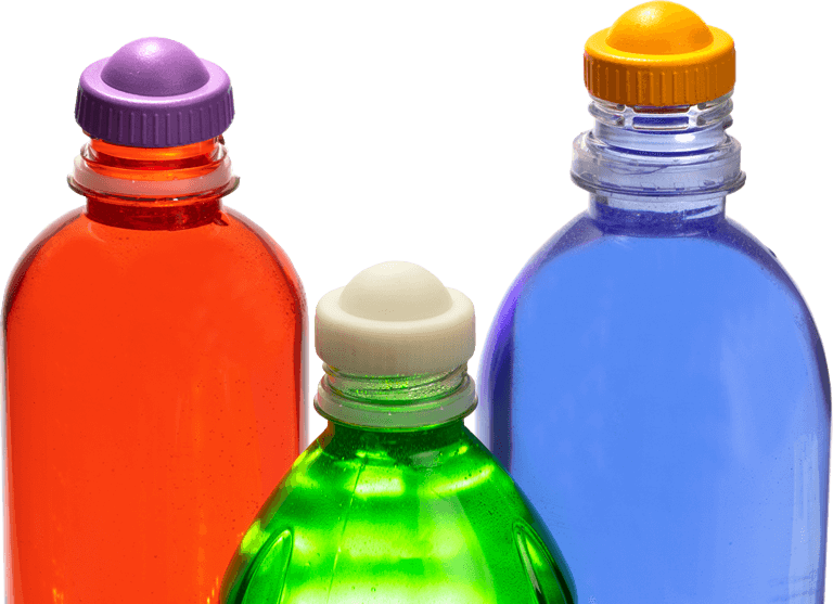 Bottles with CaPod Dispensing Caps
